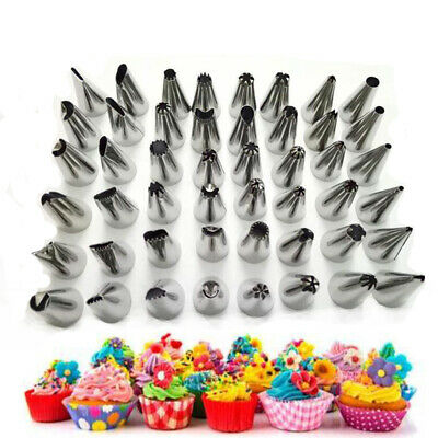 Cake Baking Decorate Tools 48Pcs/set Stainless Icing Piping Nozzles Pastry Tips