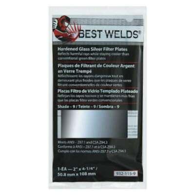 Best Welds Glass Silver Mirror Filter Plate 606230024399