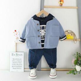 Boys Jean, Jacket and T- Shirt Hoody Set