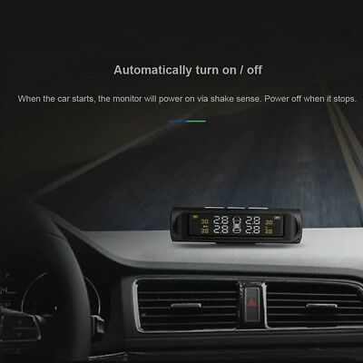 Solar Power Car TPMS Wireless Reifendruck Monitor Alarm System LCD Display K4 J2