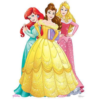 PRINCESSES ARIEL BELLE & AURORA Disney Group CARDBOARD CUTOUT Standee Standup - Cardboard Standees