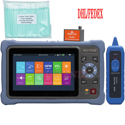 Mini Otdr 13101550nm 2624db Fiber Optic Reflectometer Touch Screen Vfl Ols Opm