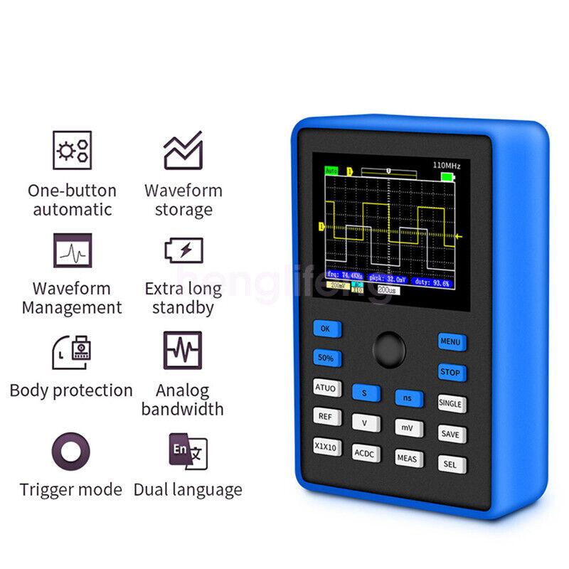 New Digital Oscilloscope 500MS/s Sampling Rate 110MHz Analog Bandwidth