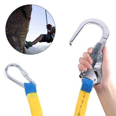 22KN Climbing Protect Safety Belt Harness Lanyard Strap & Carabiner Hook Gear