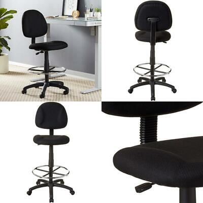 Ergonomic Works Drafting Rolling Chair Armless Contoured Back Adjustable Height