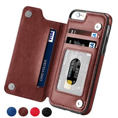 Magnetic Leather Wallet Case Card Slot Shockproof Flip Cover