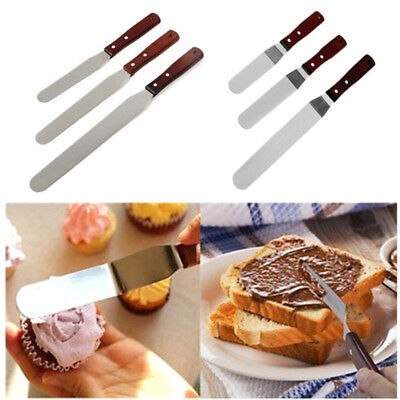 1pc 6/8/10'' Stainless Steel Cake Spatula Butter Cream Icing Frosting Knife (Buttercream Icing Butter)