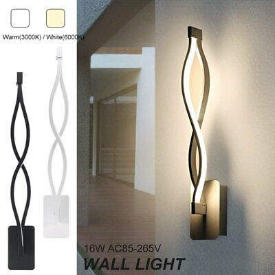 US Modern Minimalist Wall Lamps Living Room Bedroom Bedside 16W Light (Minimalist Decorating)