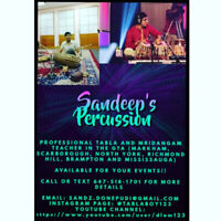 TABLA AND MRIDANGAM PLAYER AVAILABLE FOR YOUR EVENTS