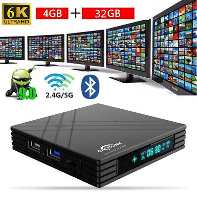 EACHLINK H6 Android9.0 4+32GB 4K Smart TV BOX HD WIFI Media Allwinner H6 F8I3