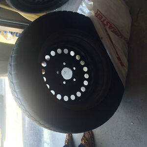 3 Winter Tires and Rims Only Used One Season Peterborough Peterborough Area image 1