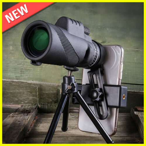 EXCLUSIVE NEW WATERPROOF 40X60mm HIGH DEFINITION MONOCULAR TELESCOPE WITH TRIPOD