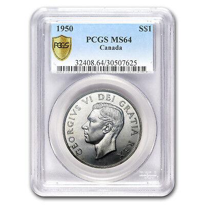 1950 Canada Silver Dollar MS-64 PCGS