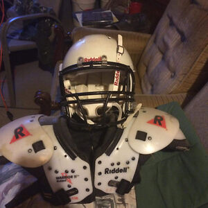 Youth Football pads and helmet