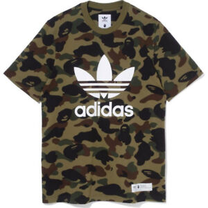 For sale : Bape x Adidas Tee Olive Cargo Brand New.
