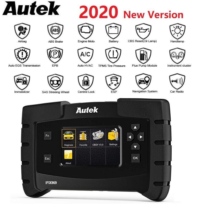 2020 Autek IFIX969 Full System OBDII Code Reader Car Scanner Diagnostic Tool US