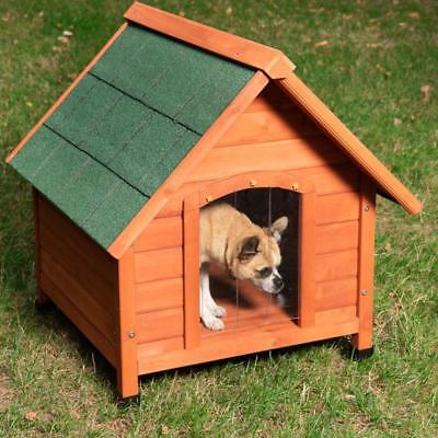 Outdoor All Weather Dog Kennel Waterproof Raised Wooden Dogs Shelter Pet House