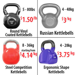 Ergonomic Round Vinyl Coated Russian Style Steel Kettlebell