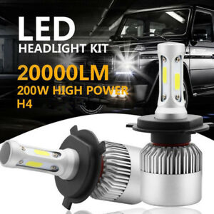 H4 9003 HB2 LED Headlight Kit 200W 20000LM High/Low Beam HID