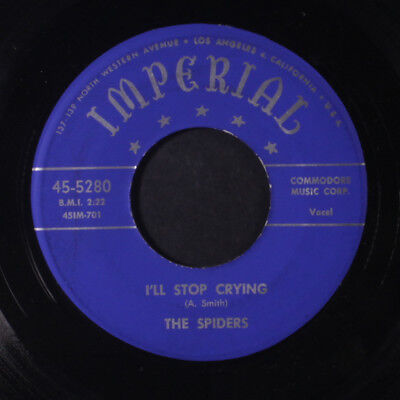 SPIDERS: I'll Stop Crying / Tears Began To Flow 45 (clean!) Vocal Groups