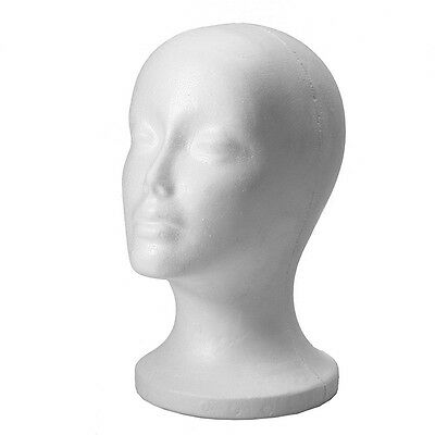 Head Model Wig Hair Glasses Hat Headset Display Styrofoam Foam Mannequin Manikin