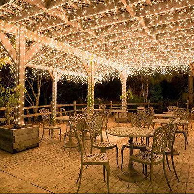 100-500 LEDs Guirlande Lumineuse Noel Fête Lampe Exterieur Sapin Party Decor