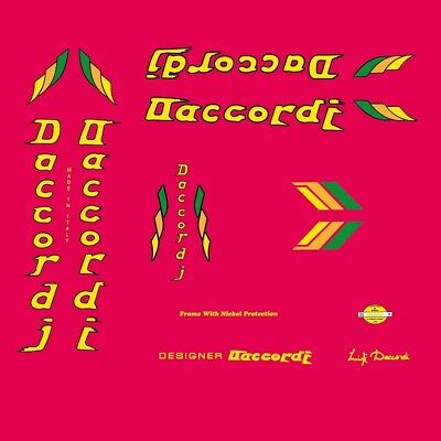 Daccordi Bicycle Decals, Stickers n.100, used for sale  Shipping to United States
