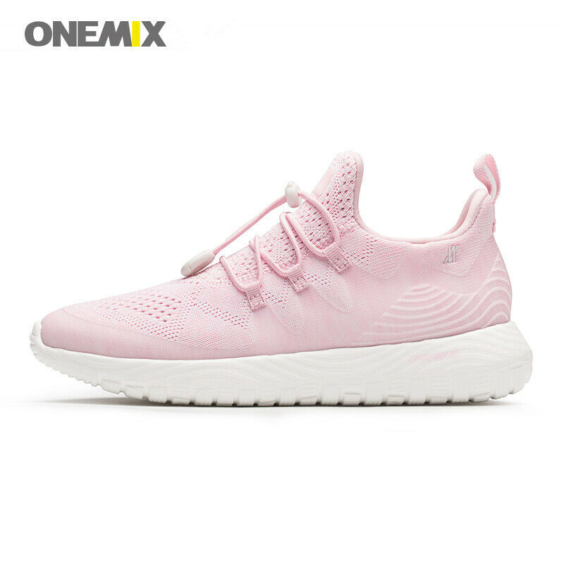 ONEMIX Women Light Running Shoes for Men Breathable Knit Vam