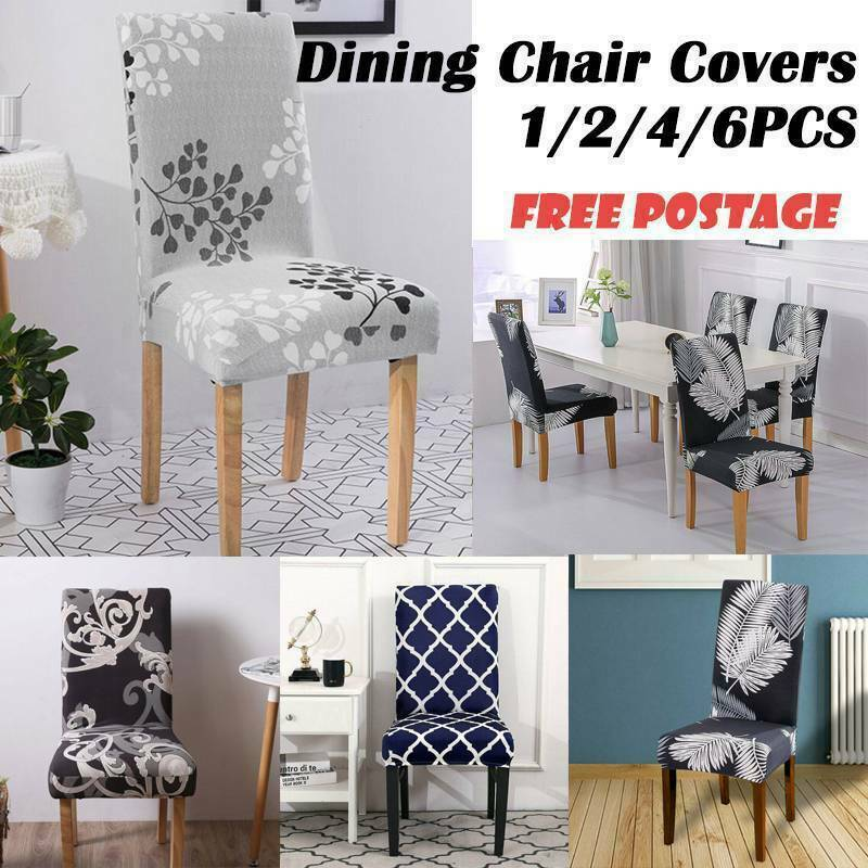 Stretch Dining Room Wedding Kitchen Home Chair Seat Stretch Covers Home Dec GIFT