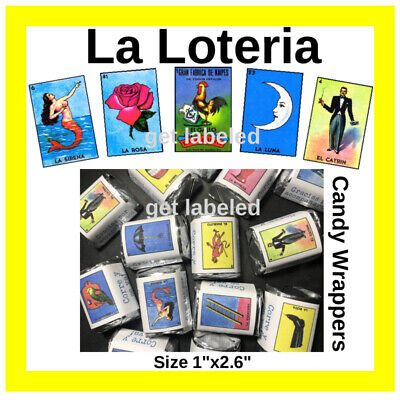 60 La Loteria Mexicana Fiesta Party. For Hershey Candy Wrappers. Party Favors