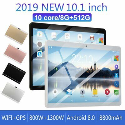 10.1 inch Android 9.0 10 Deca Core Dual SIM Tablet PC WIFI 8G+512G Tablet Pad US