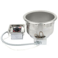 APW Wyott SM-50-11D UL 11 Qt. Round Drop In Soup Well with Drain