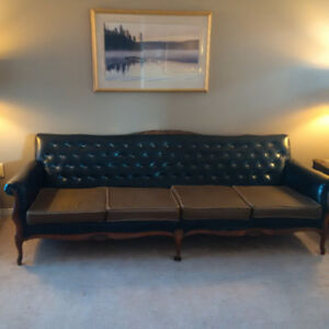 Beautiful Carved Vintage Couch and Chair