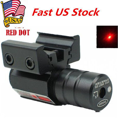 US Red Dot Laser Tactical Scope Sight 11/20mm Dual Picatinny Weaver Rail Mount