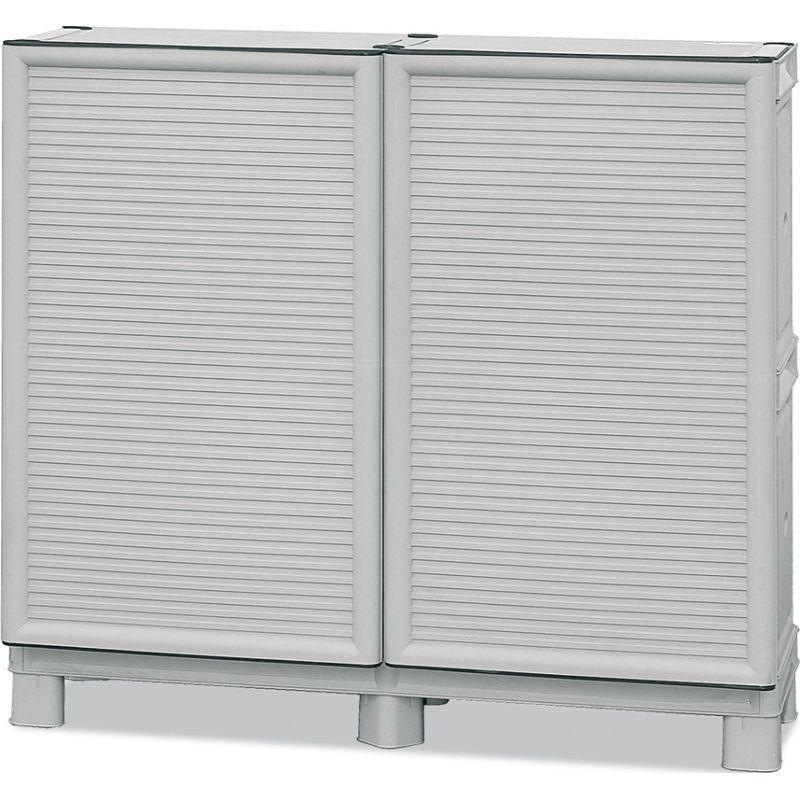 Armadio mobile box resina 100 per esterno cerniere for Armadio per esterno 90 cm