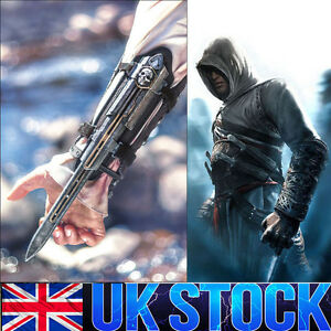 Assassins Creed IV 4 Black Flag Pirate Hidden Blade Gauntlet Cosplay Replica