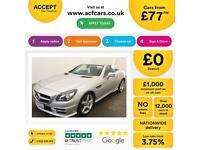 Mercedes-Benz SLK200 FROM £77 PER WEEK!
