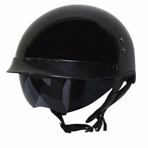 DOT Half Helmet with Drop Down Sunglasses