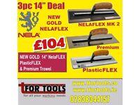 "NELA DEAL 14"" NELAFLEX 2 SUPERFLEX MKII PLASTICFLEX & PREMIUM TROWEL"