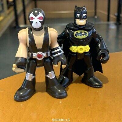 """2x Imaginext BANE & Batmant DC Super Friends FIsher-Price 2.8"""" Action Figure toy"""