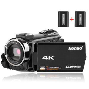4K Camcorder, 48MP Portable Ultra-HD 30FPS WiFi Digital Video Ca
