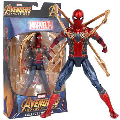 Spider Man Iron Spider Avengers Infinity War Marvel Action Figure Toy Fans Gift