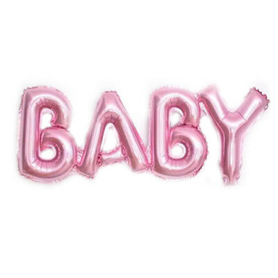 Baby Girl Boy Letter Foil Helium Balloons Hanging Banner Baby Shower Air Balloon - Baby Boy Helium Balloons