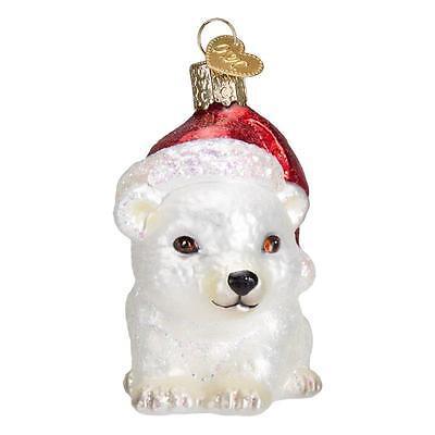 CHRISTMAS POLAR BEAR OLD WORLD CHRISTMAS GLASS ARCTIC MAMMAL ORNAMENT NWT 12449