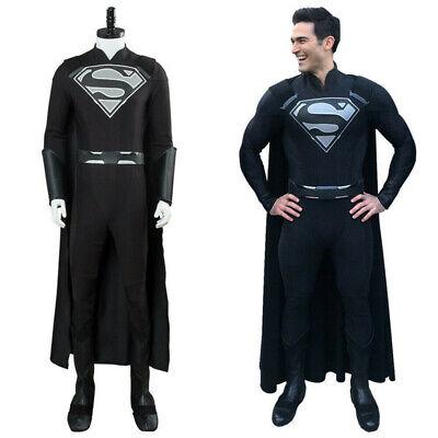 Hero Catcher Black Superman Costume Muscle Shade Black Superman Suit With Logo - Black Superman Suit Costume