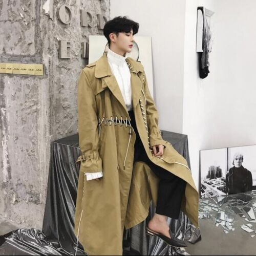 Fashion New Mens Trench Coats Lace Up, Fashionable Long Trench Coats