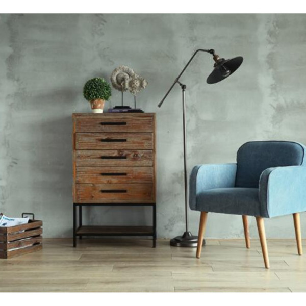PO - Industrial/Loft /Vintage/Retro Solid Wood Multillevels Side Tables with Drawers