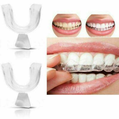 2Pcs/Set Silicone Mouth Teeth Guard Sleep Aid for Bruxism Dental Teeth Grinding