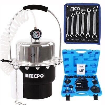 Druckluft Bremsenentlüftungsgerät 5 Liter + Bremsleitungsschlüssel Werkzeug 8-19