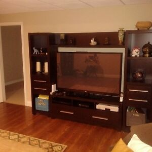 52 inch LG LED plasma flat creen TV with open entertainment unit